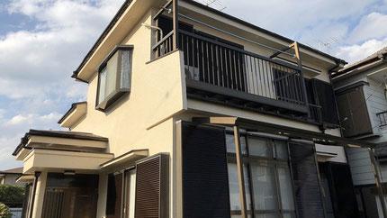 さいたま市岩槻区の戸建住宅、外壁塗装・屋根塗装工事完了の写真