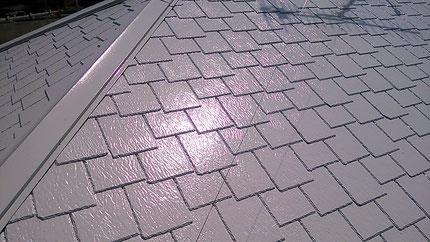 さいたま市岩槻区の戸建住宅、屋根遮熱塗装工事、サーモアイシリコン完了の写真