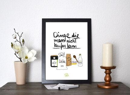 Kunstdruck Dinge die man nicht kaufen kann