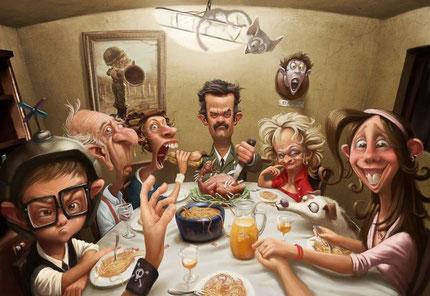 Un repas de famille !! lol ;-)