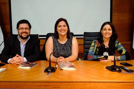 Yurena González Herrera, Elena Morales y Daniel Bernal Suárez