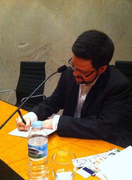 Daniel Bernal Suárez en la Fundación CajaCanarias