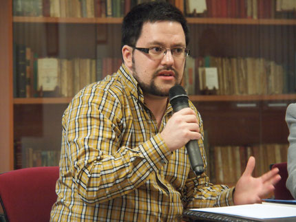Daniel Bernal Suárez en el Museo Poeta Domingo Rivero
