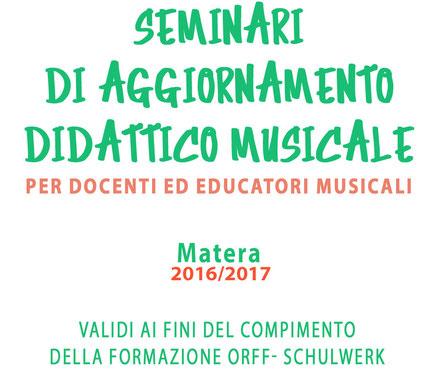 seminari osi di aggiornamento didattico musicale per docenti ed educatori musicali OSI Matera 2016