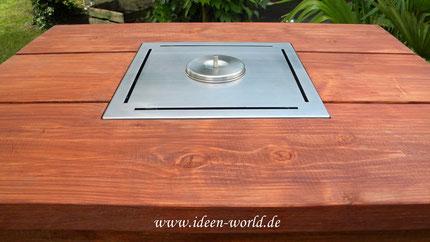 Stehtisch Holz Feuerstelle    Ideen-world