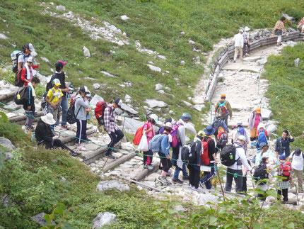 2013年9月 駒ヶ岳登山で千畳敷からの出発風景