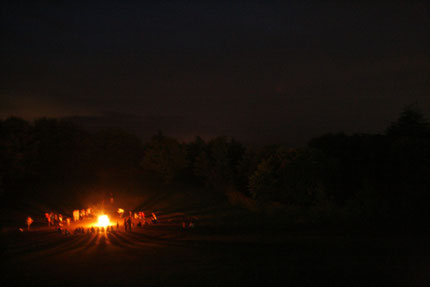 2013年8月乗鞍サマーキャンプでのキャンプファイヤー