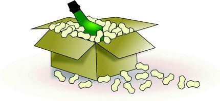 Заполнитель коробок посылок пенопластовый