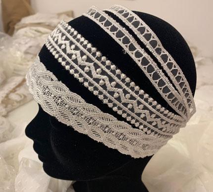 Headband pour mariée, headband dentelle, bandeau cheveux mariée, bandeau chevelure
