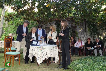 Un momento della premiazione (foto Cesare Dellafiore)