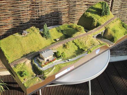 Fluss und Bahnwärterhaus- bei Interesse auf Bild klicken