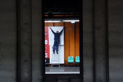 Photographie, transports, RER, afficheur, Paris, banlieue,
