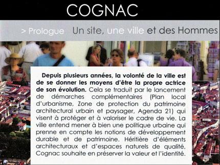 Extraits du dossier de candidature de COGNAC Ville d'art et d'histoire
