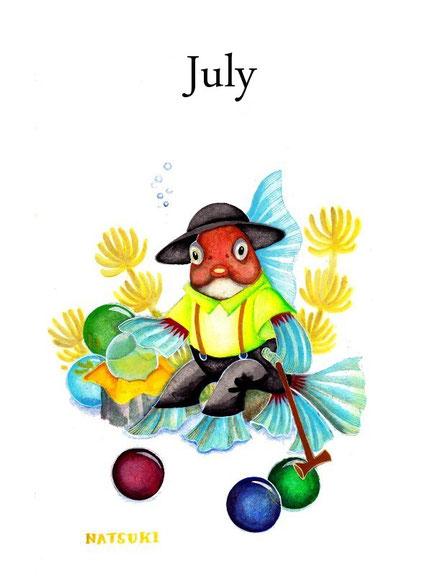 July ビー玉を売る金魚