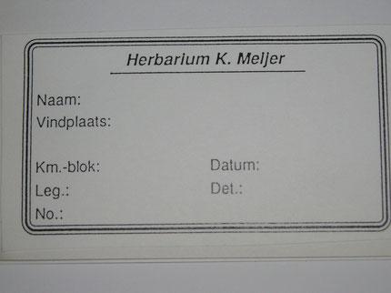 voorbeeld herbariumetiket