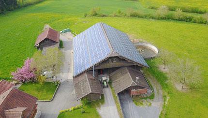 Solaranlage auf dem Scheunendach der Liegenschaft Wenischwand, Sempach