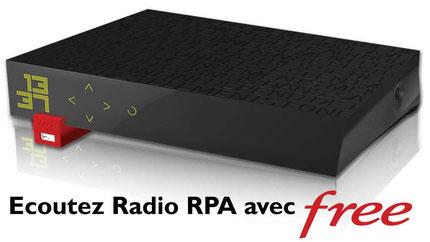 Ecoutez Radio RPA sur votre Freebox