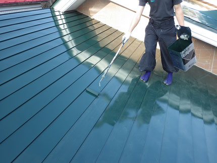 屋根面上塗り