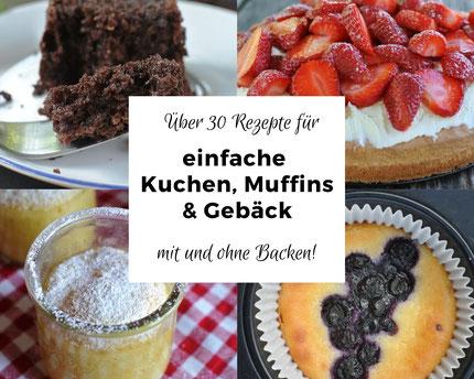 Einfache Kuchen, Muffins und Gebäck