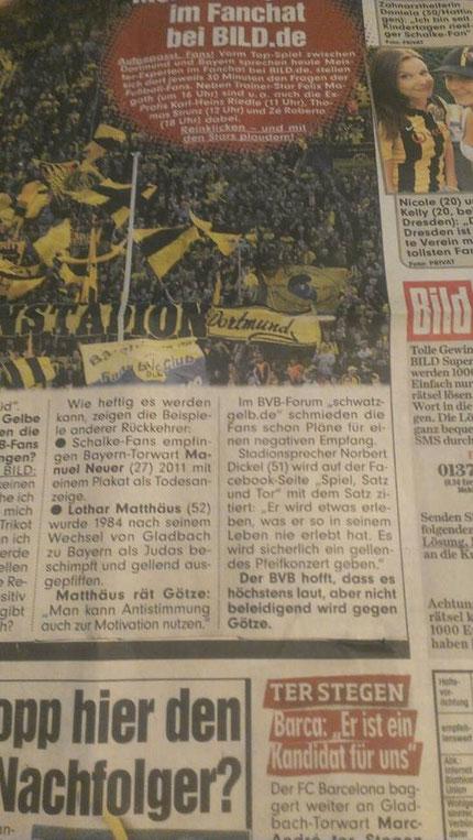 Bild-Zeitung am 21.11.2013