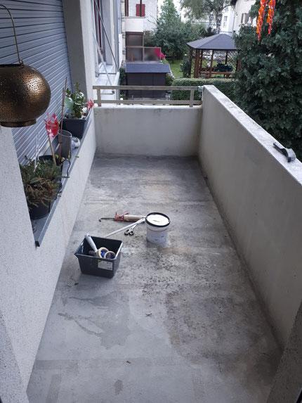 Neuanstrich Balkon Objekt: 3930 Visp