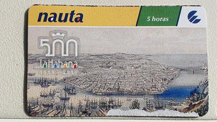 Karte für 5 Stunden kosten 5 CUC = ca. 4,60 Euro