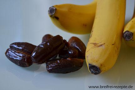 Datteln und Bananen