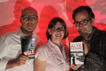 Die Autoren zusammen mit der Hausherrin der Freimühle, Ute Hassler