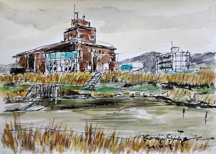 横浜市・県立境川遊水地公園の情報センター