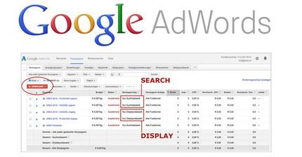 google adwords suchmaschinenwerbung SEA