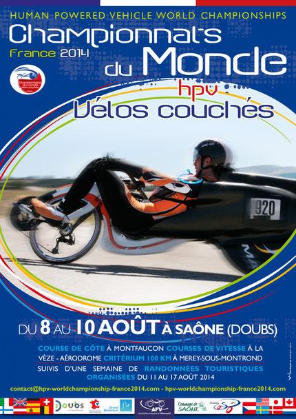 Affiche Championnat du Monde de vélo couché 2014 en France