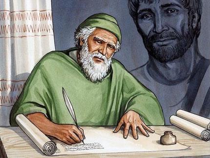 """Jésus demande à Jean, alors sur l'île de Patmos, d'écrire les choses qu'il a vues. Le rédacteur est l'apôtre Jean, fils de Zébédée. Le """"fils du tonnerre"""", l'""""apôtre de l'amour""""."""