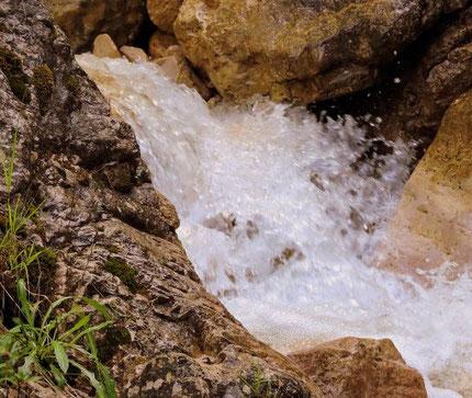L'eau de source est une eau souterraine jaillissant naturellement à la surface du sol et donnant généralement naissance à un cours d'eau. Elle est symboliquement associée à la vie spirituelle qui vivifie ceux qui ont soif de vérité et de justice.