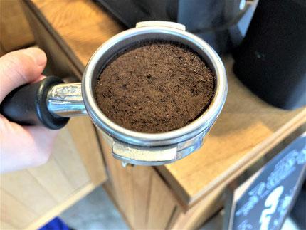 エスプレッソコーヒーのカス