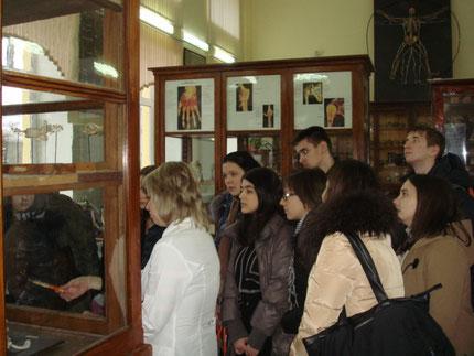 Экскурсия в анатомический музей СГМУ, декабрь 2013