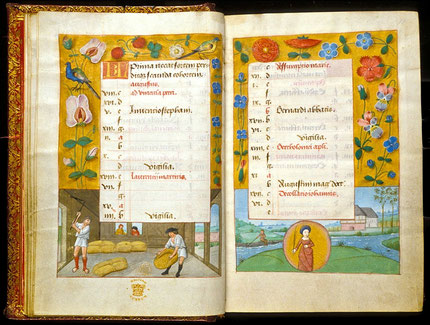 Calendrier juillet-août-British Library-King's 9 f°8v-9