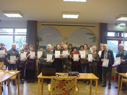 Aan het einde van de middag ontving elke deelnemer een certificaat als bewijs van deelname.