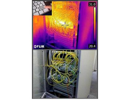Thermografische Untersuchung eines IT Netzwerkverteilers IB Klaiber