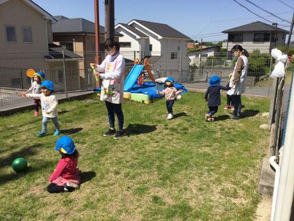 みんな、楽しそうに遊んでいました。