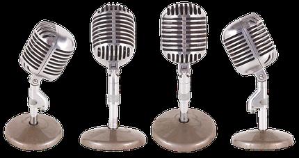 Vier Mikrofone