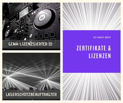Lizenz Zertifikat DJ