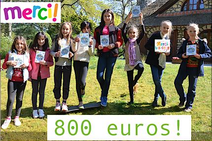 """Fév 2017- 12ème chèque de 800 euros pour """"Enfants de l'univers""""!"""