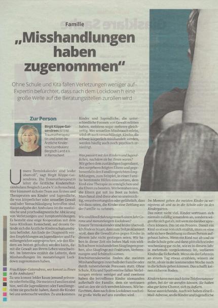 Kölner Stadt-Anzeiger Magazin vom 19. März 2021