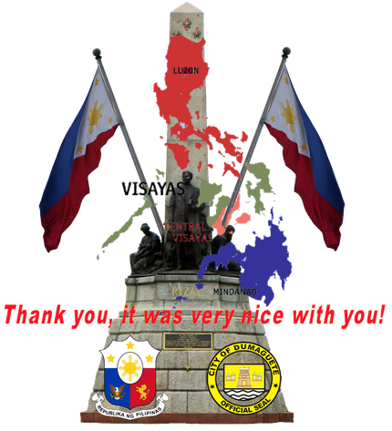 Fotomontage mit dem José Rizal Monument im Rizal Park von Manila