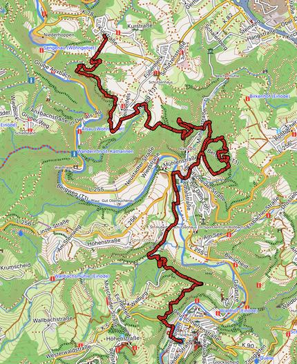 GPXTrack 15. Etappe WW-Steig