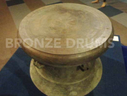 "Fig. 10. The ""golden drum"" from Kao Sam Keo (D70 / H50 cm)"
