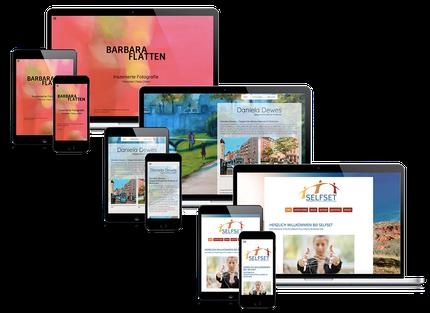 Gestaltete Webseiten der Web-Manu-Faktur München