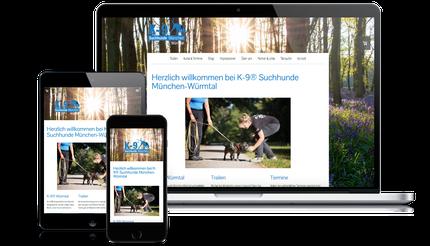 K-9 Suchhunde Würmtal-München ist Kunde der Web-Manu-Faktur München