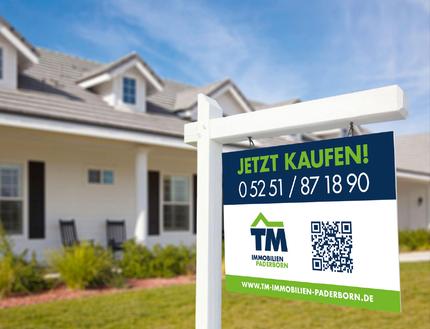 Verkaufsschild TM Immobilien Paderborn