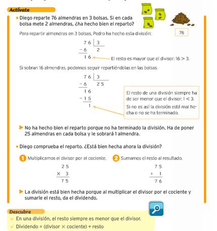 Propiedad del resto y regla de la división - Matemáticas 2º ciclo de ...